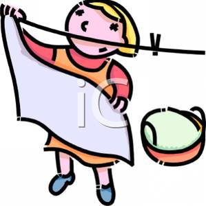 Hang up clothes clipart.