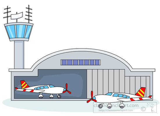 Airplane hangar clipart.