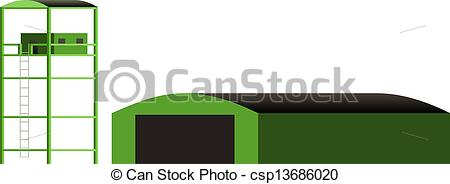Vector Illustration of Military Hangar csp13686020.