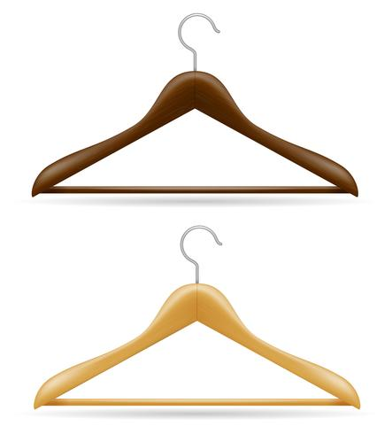 wooden clothes hanger vector illustration.