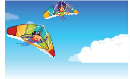 Hang Glider Clip Art, Vector Hang Glider.