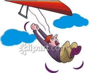 Falling From His Hang Glider.