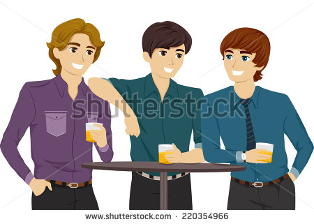 Guys Hanging Out Stock Images, Royalty.
