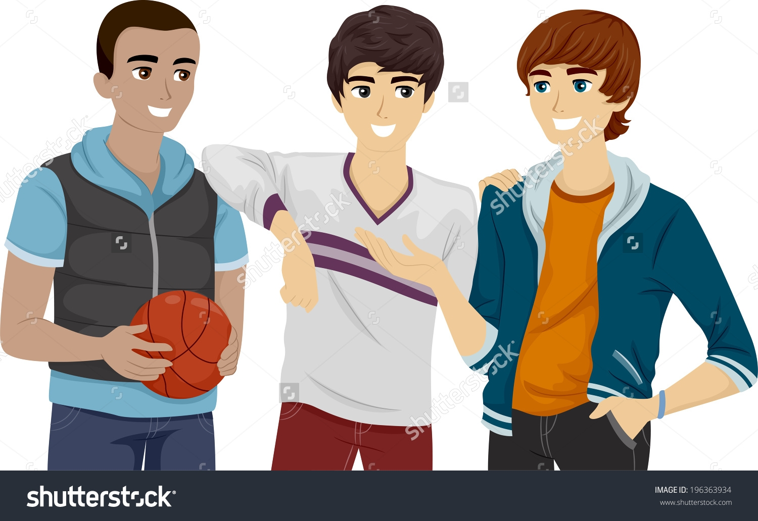 Group Of Friends Hanging Out Clipart.