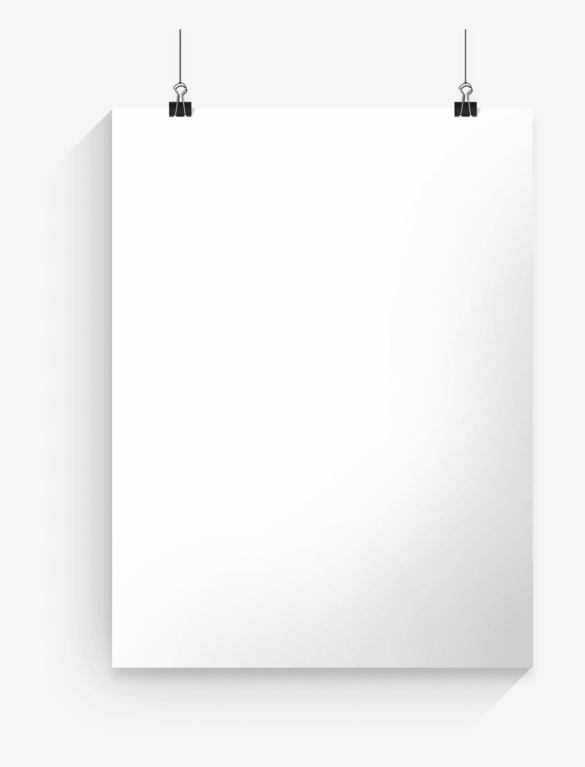 Transparent Poster White Banner Royalty Free Stock.