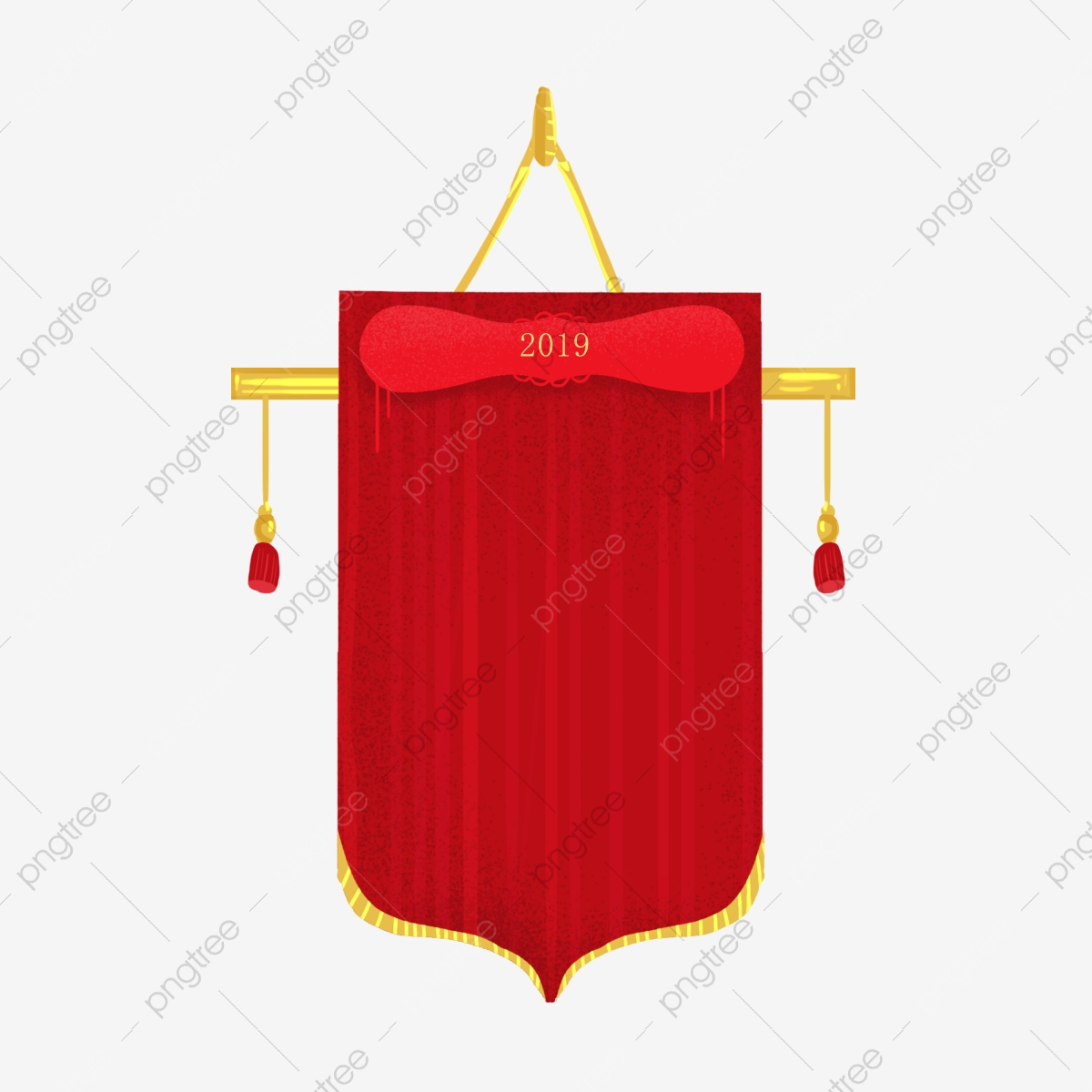 Honor Banner Honor Hanging Flag Red Red Hanging Flag, Victory.