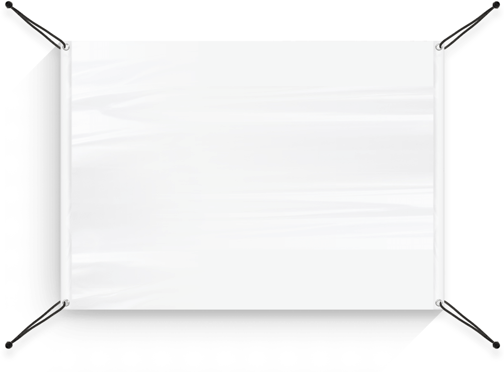 HD Blank Hanging Banner Png , Png Download.