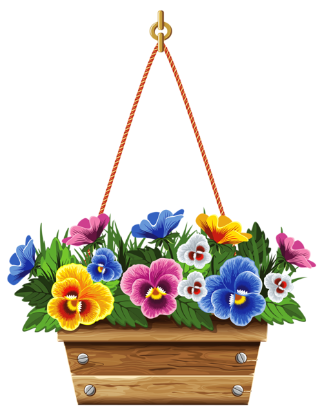 Clipart Flower Baskets : Hanging basket clipart clipground