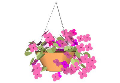 Clipart hanging flower basket.