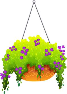 Flower Baskets Clip Art.