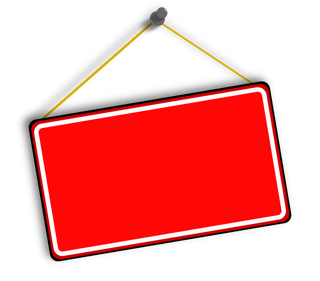 Free vector graphic: Hanging, Sign, Red, Board.