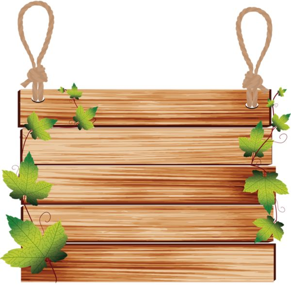Hanging wooden sign clipart.