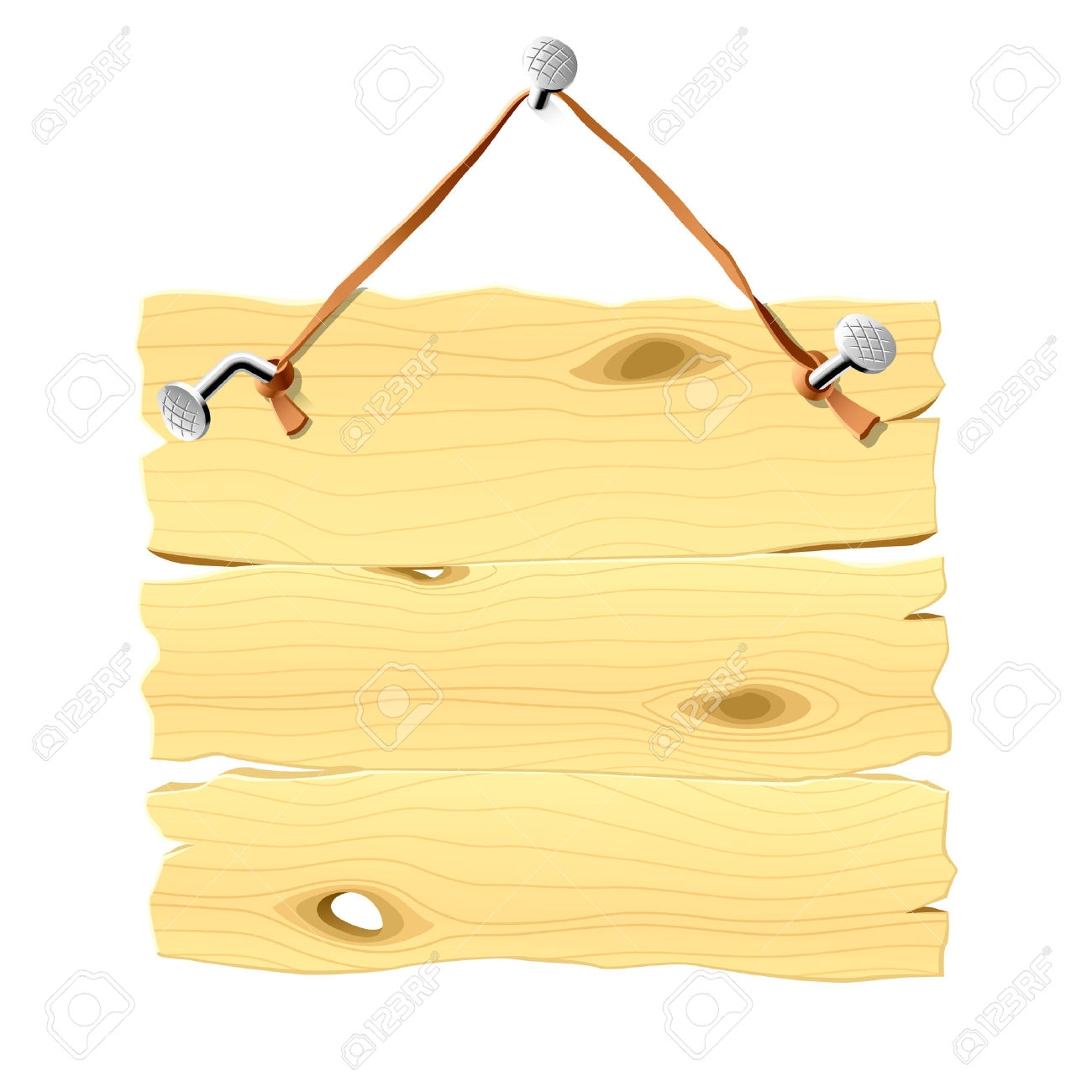 Wooden Board Hanging Clipart