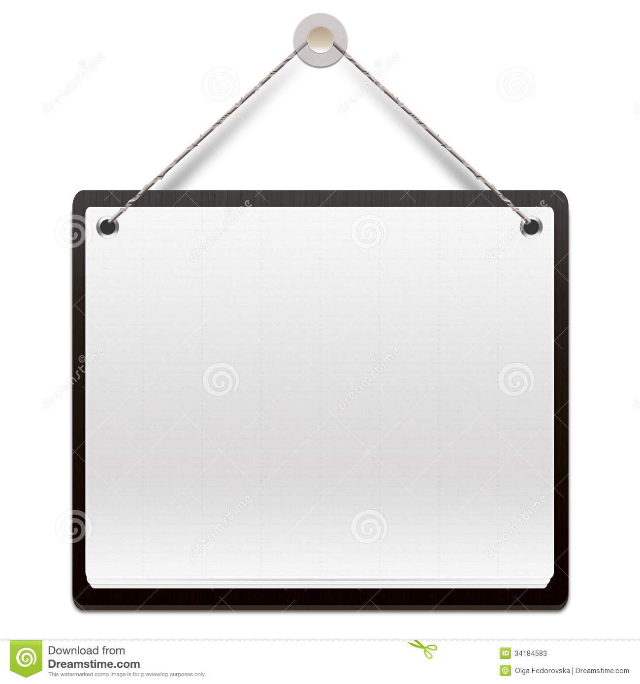 Hanging Note Board Royalty Free Stock Photos.