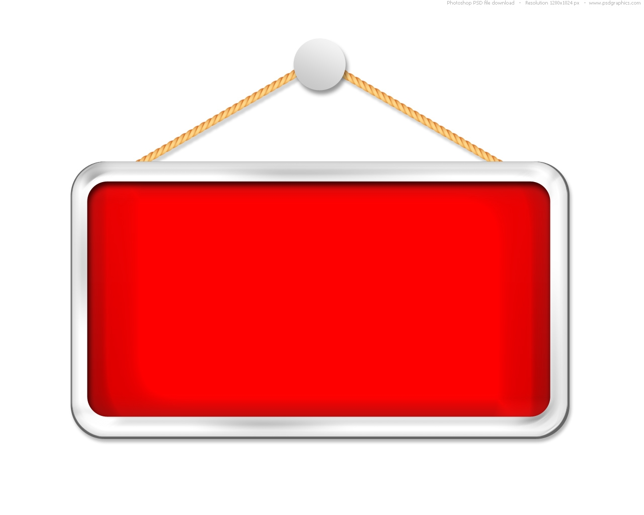Blank hanging sign clipart.