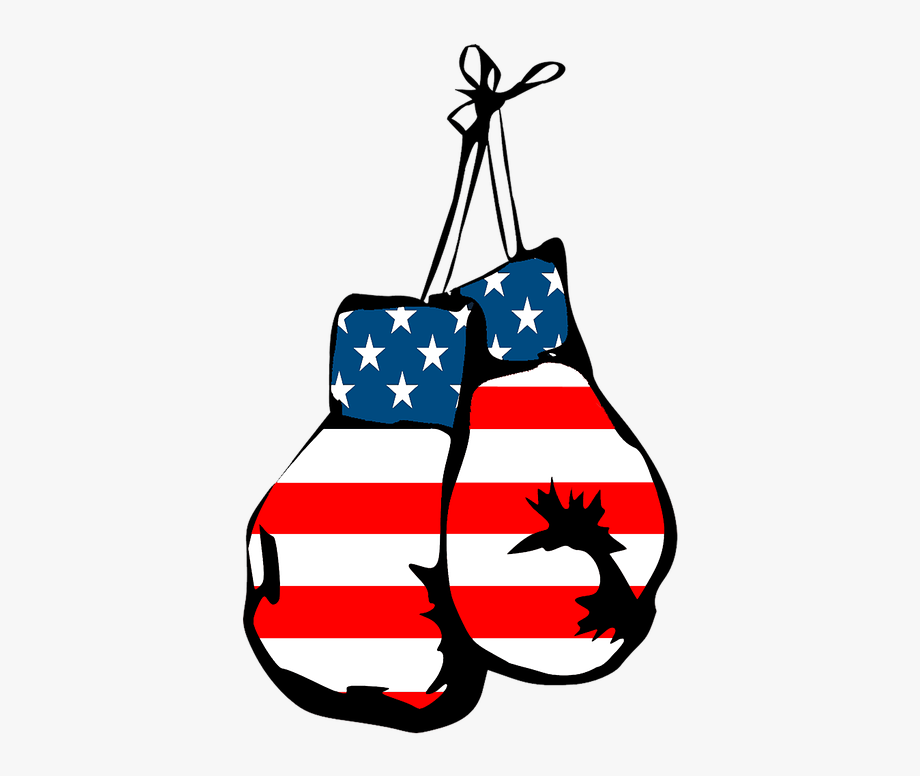 Boxing Gloves Clipart American Flag.