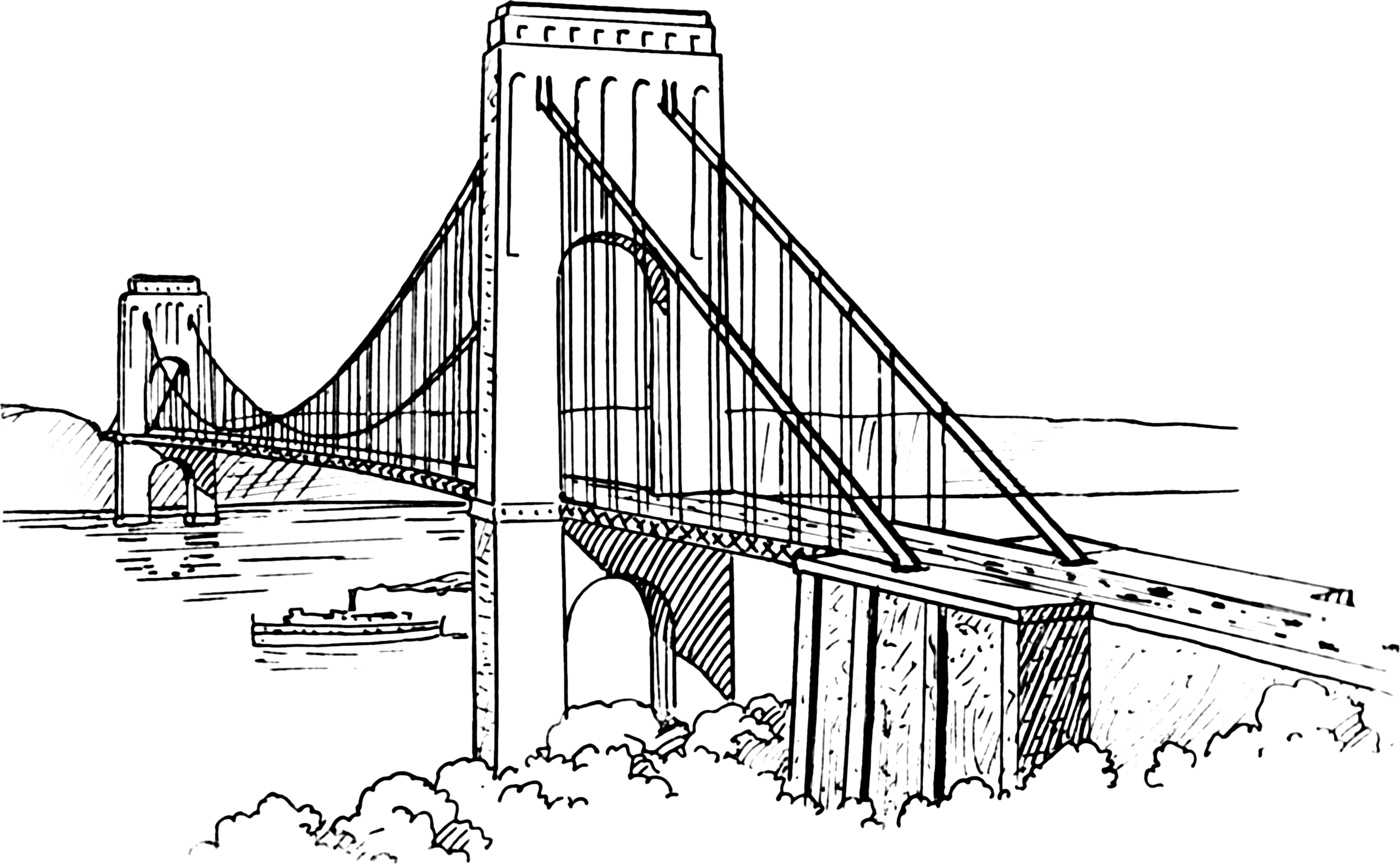 Hanging bridge clipart Clipground