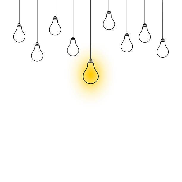 Hanging Lightbulb Clipart.