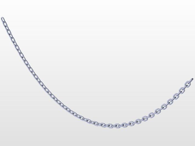 Catenary hanging chain.