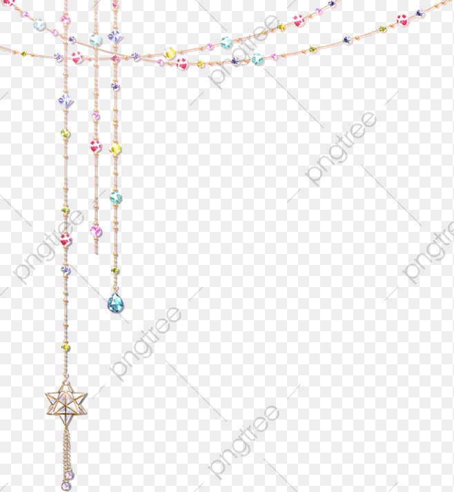 Beautiful Hanging Chain, Chain Clipart, Gem, Five Pointed Star PNG.