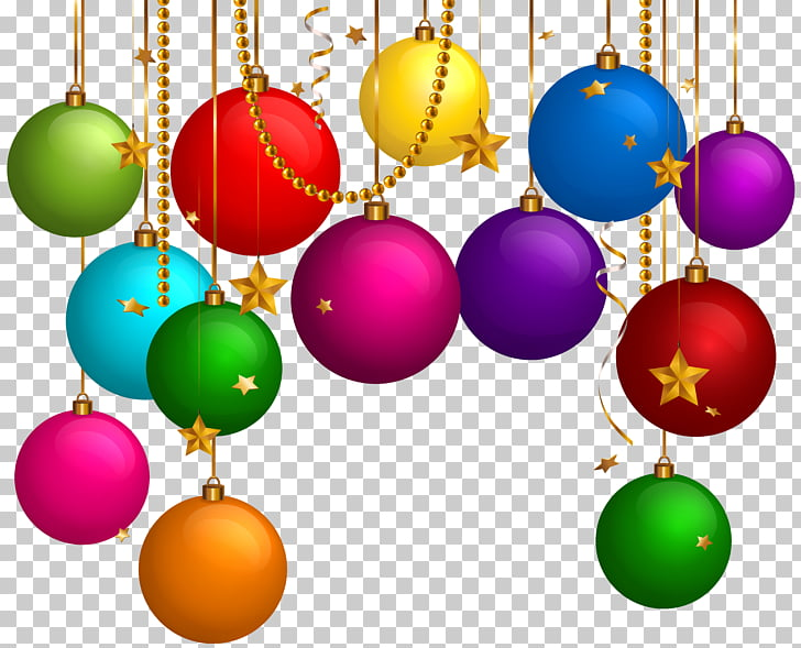 Christmas ornament , Hanging Christmas Balls Decor PNG.