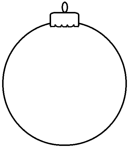 Christmas Balls Clipart Black And White.Hanging Christmas Ornament Clipart Black And White 20 Free