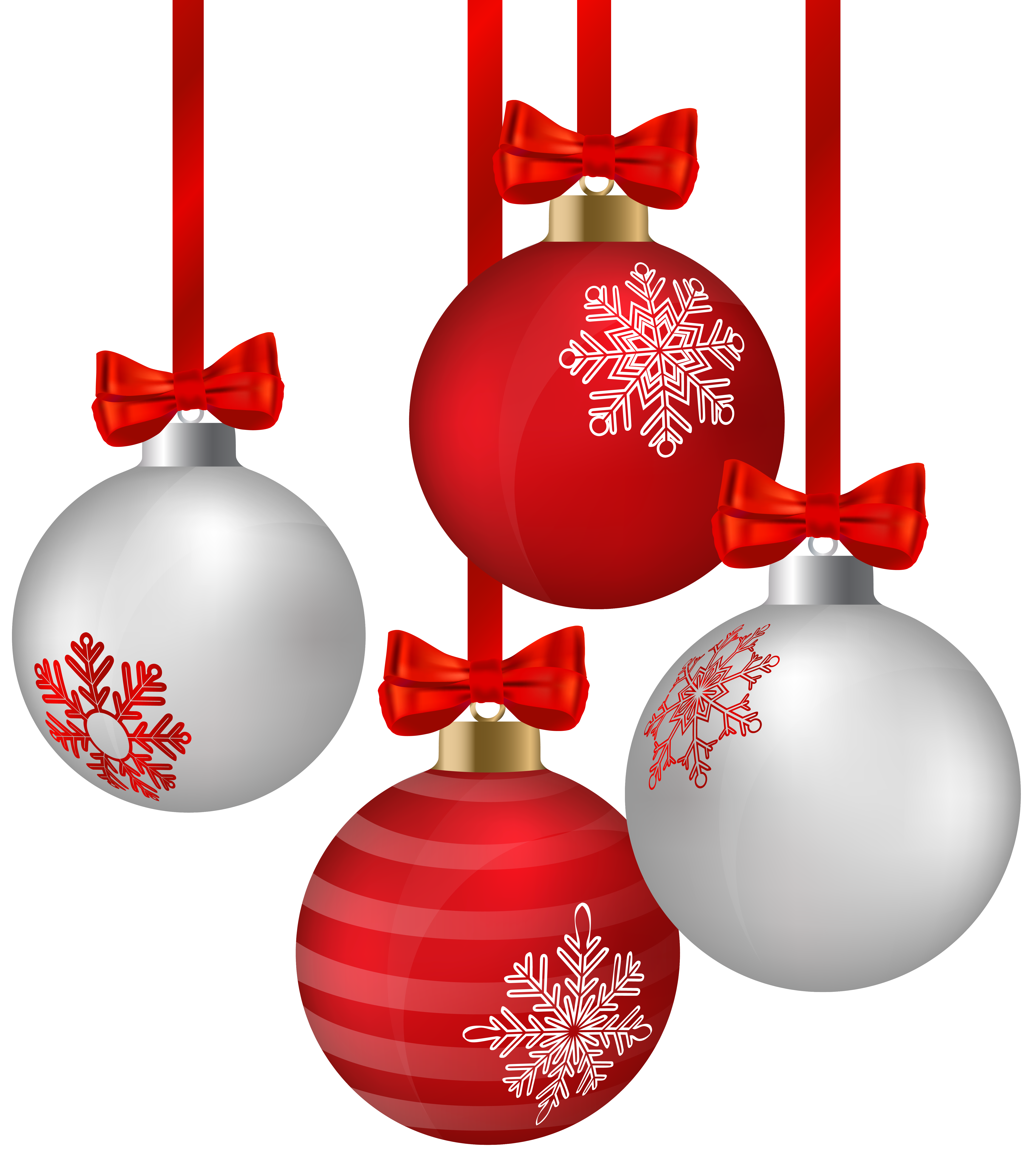 Long hanging christmas ornament clipart collection.