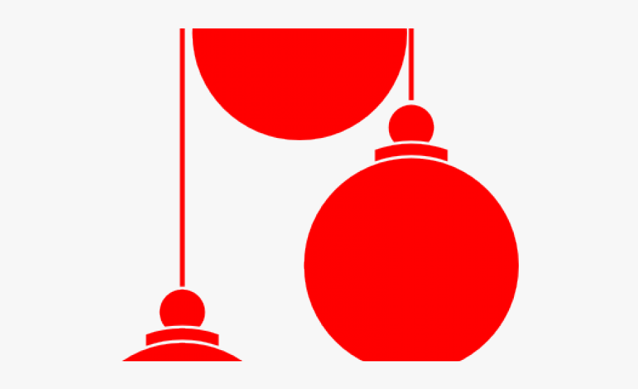 Christmas Ornament Clipart Red.