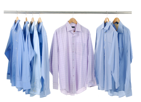 Clothes hanger,Clothing,White,Blue,Outerwear,Lavender,Dress shirt.