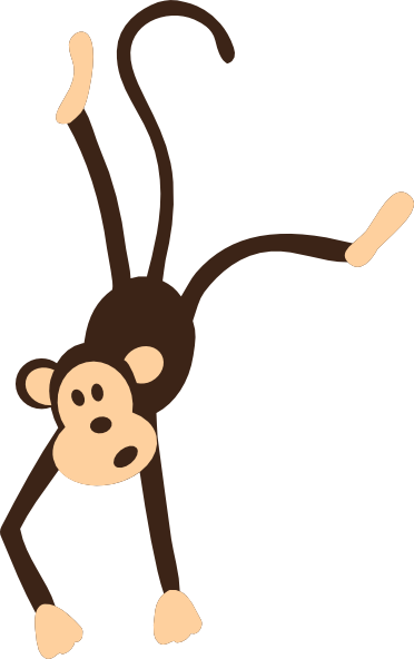 Upside down hanging monkey clipart free clipart 2.