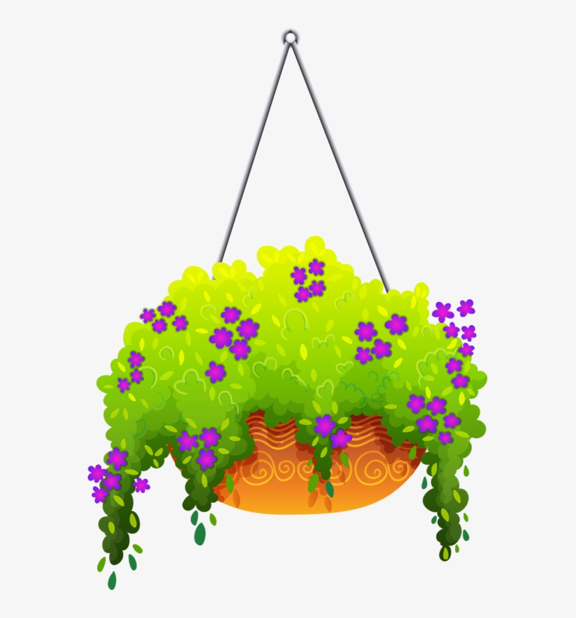 Pot Plant Clipart Flower Basket.