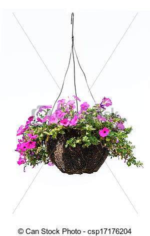 Hanging baskets clipart.