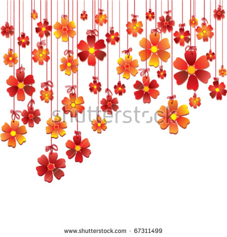 Hanging Flowers Isolated Stock Vectors, Images & Vector Art.