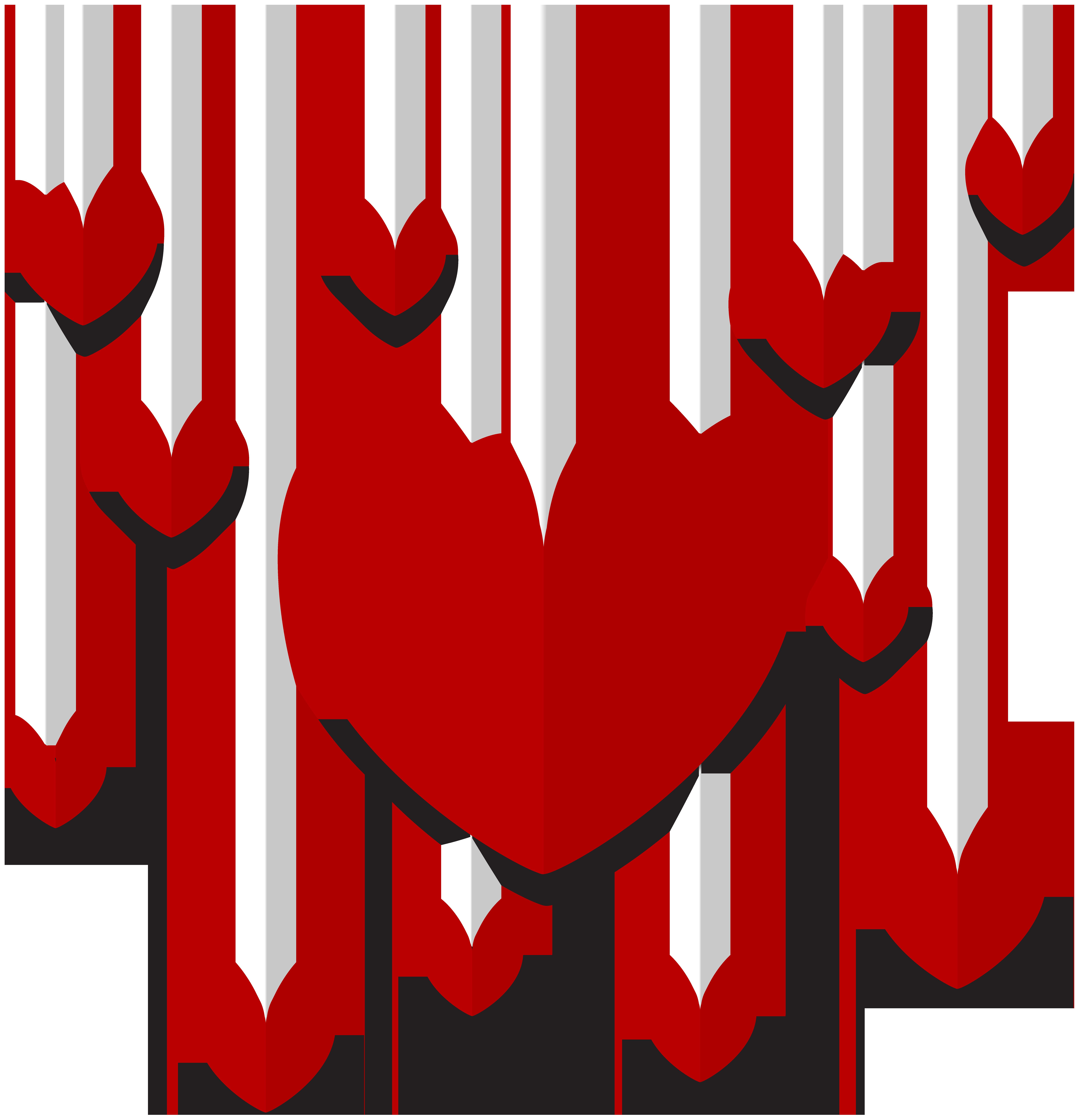 Hanging Hearts Decor PNG Clip Art.