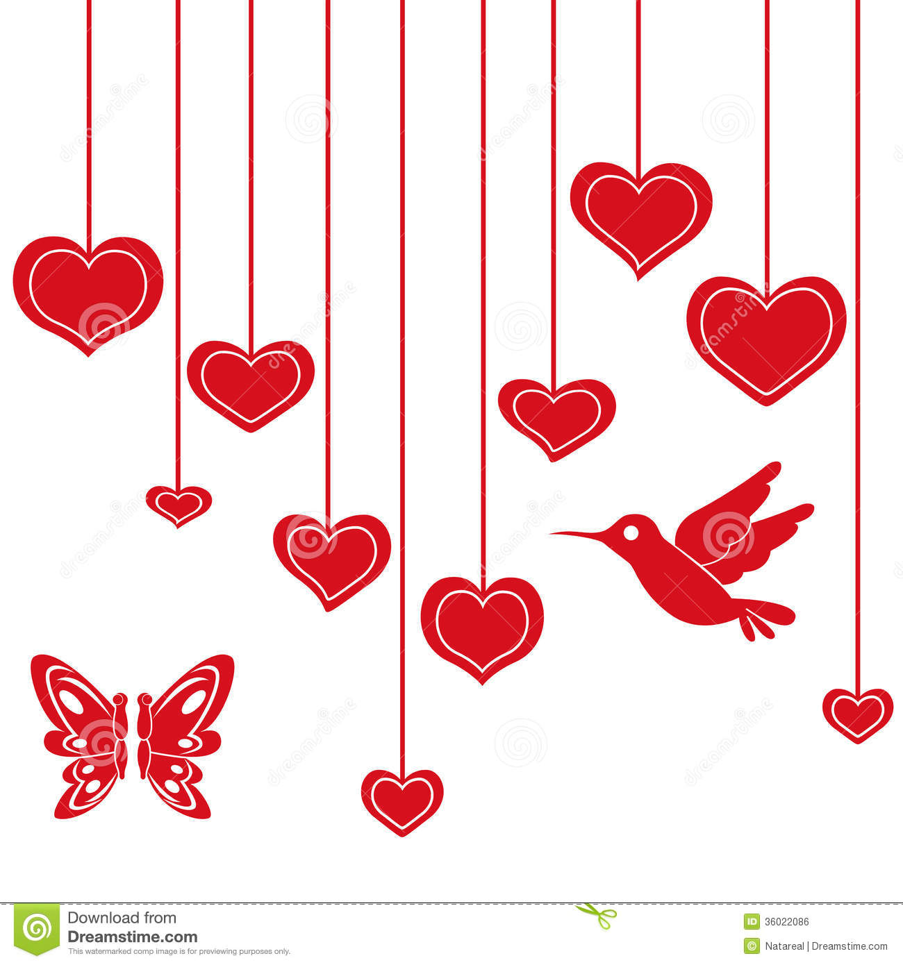 String Of Hearts Clipart.