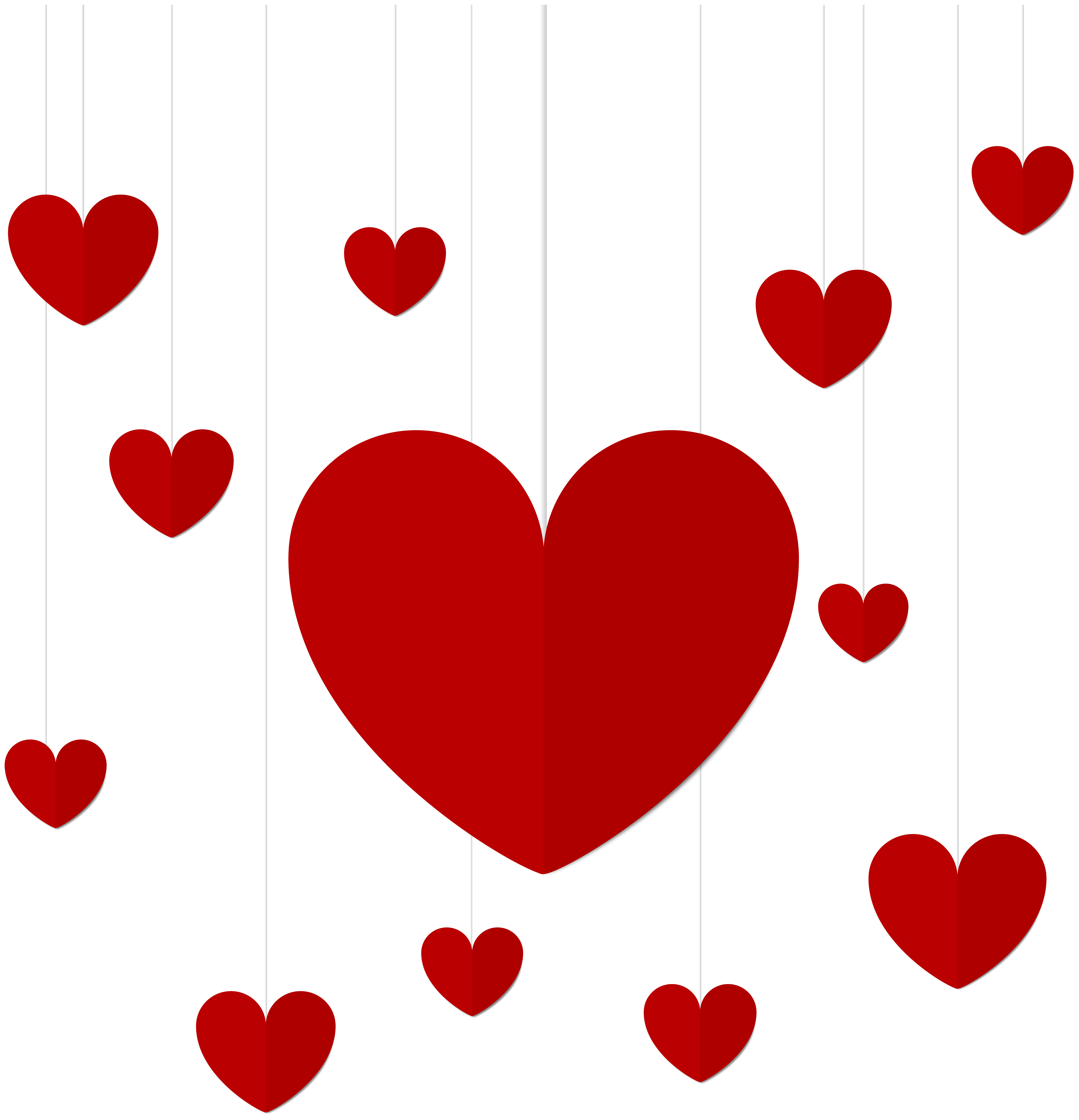 hanging hearts clipart