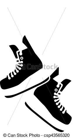 Hanging Hockey Skates.