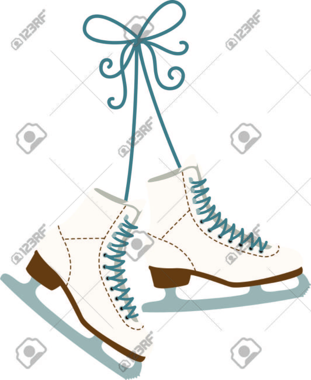 Use these hanging ice skating boots for the fan of ladies figure...