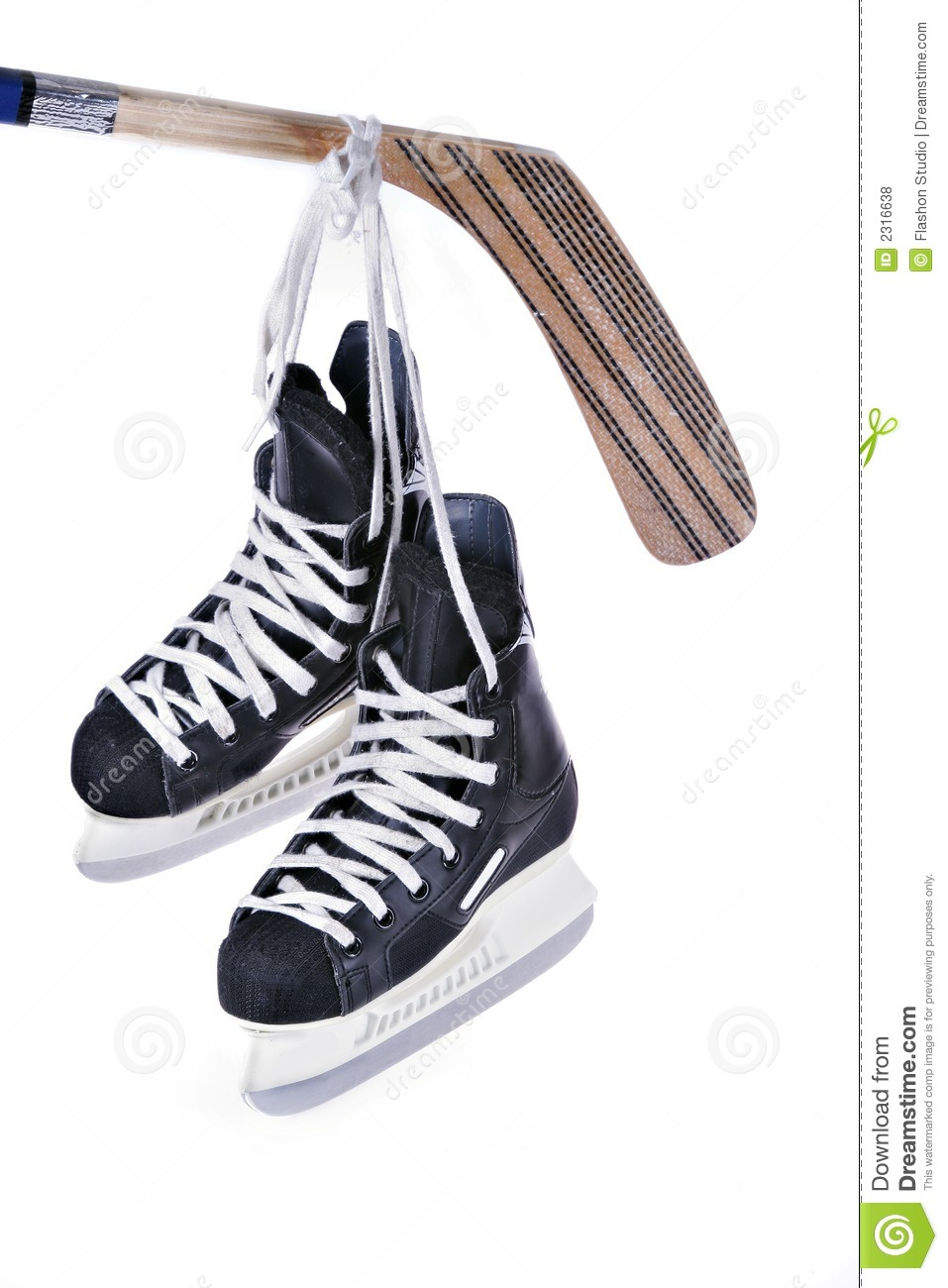 Hockey Skates Hanging Clipart.