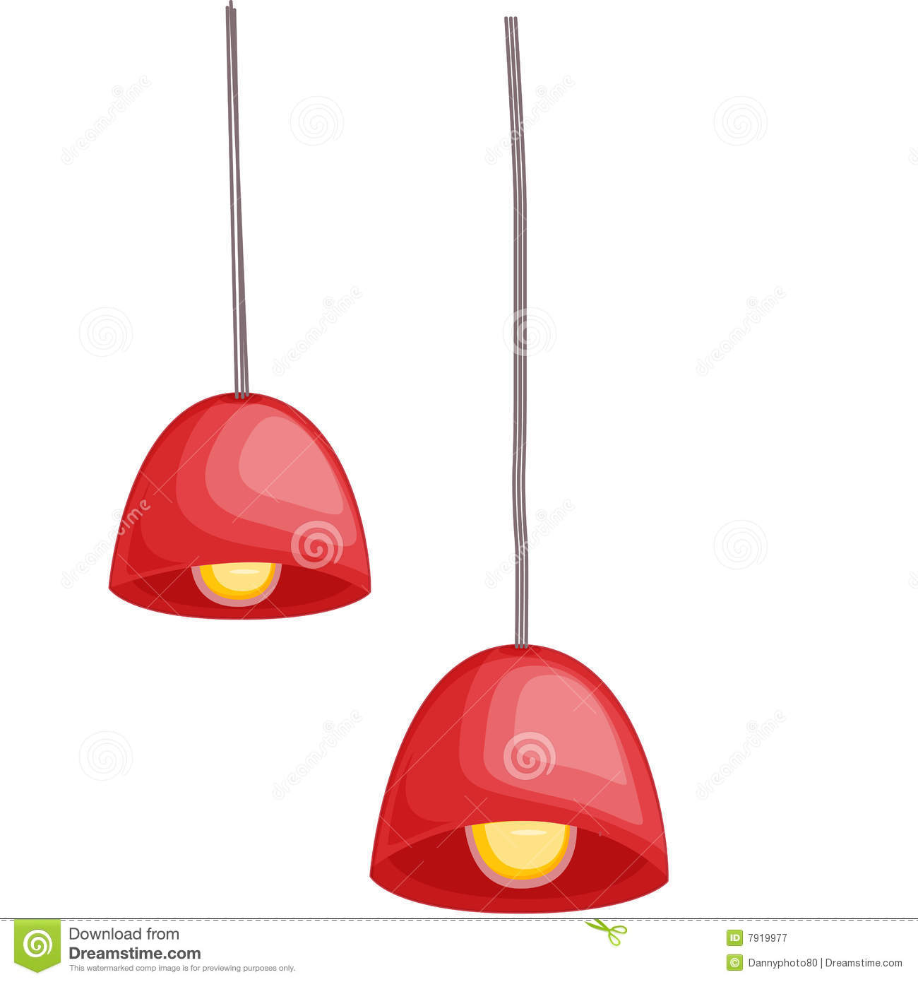 Hanging Lights Royalty Free Stock Photography.