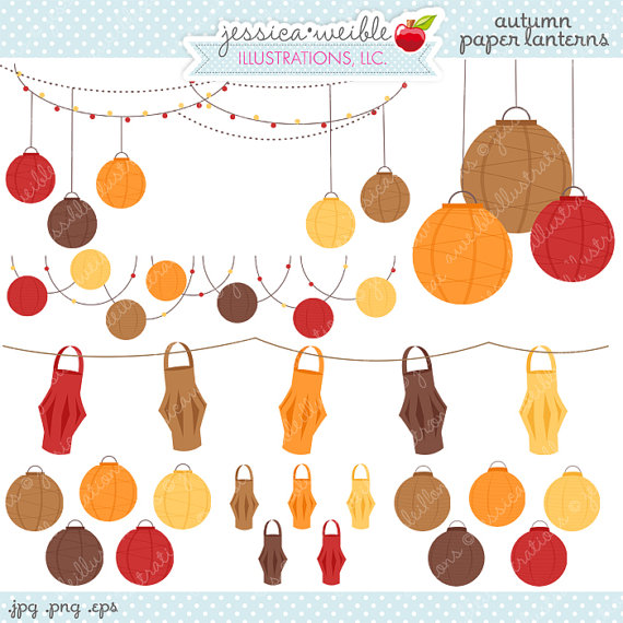Outdoor Party Lights Clipart: Hanging Lantern Clipart