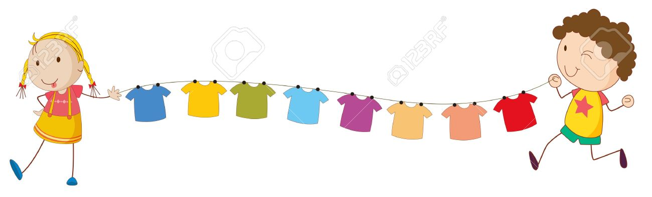 Hanging laundry clipart 4 » Clipart Station.