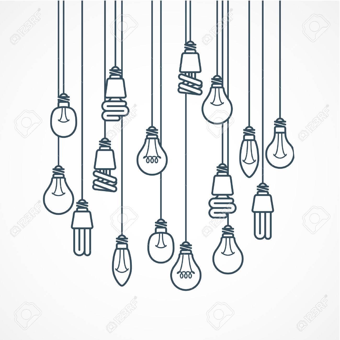 Light bulb hanging on cords.