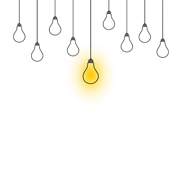 Best Light Bulbs And Hanging Illustrations, Royalty.