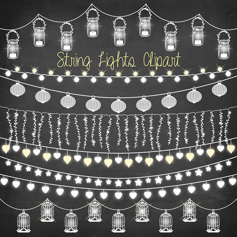 String Of Lights Clipart.