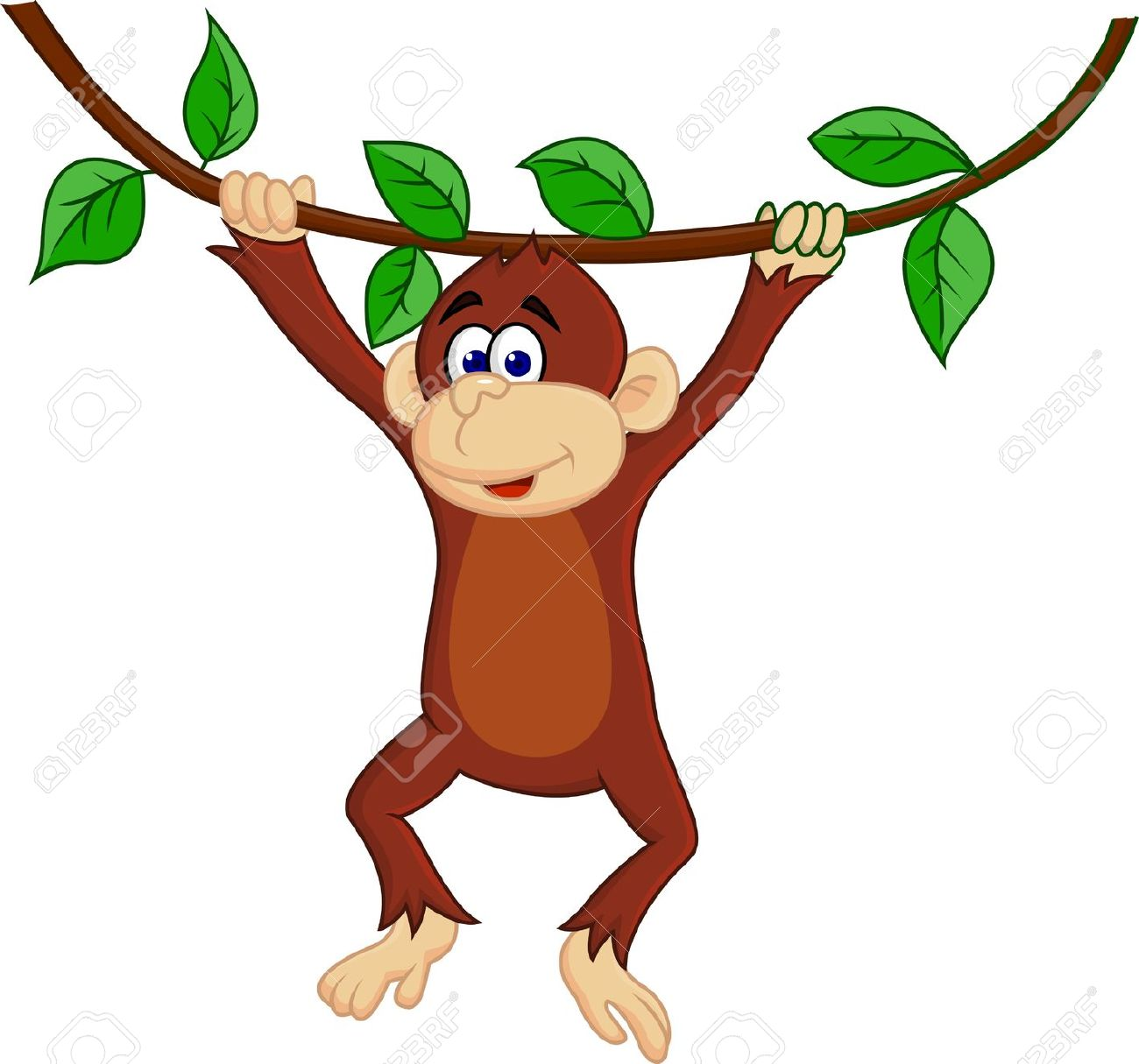 Hanging Monkey Clipart.