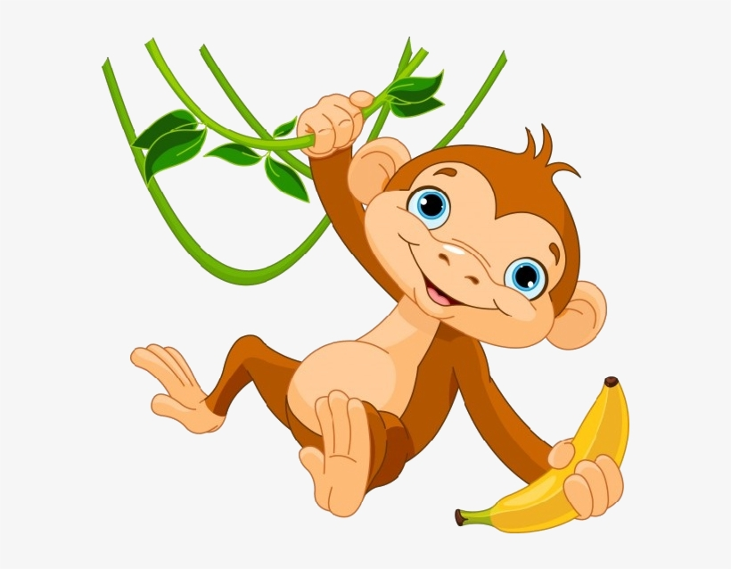 Hanging Monkey Png Image Black And White Download.