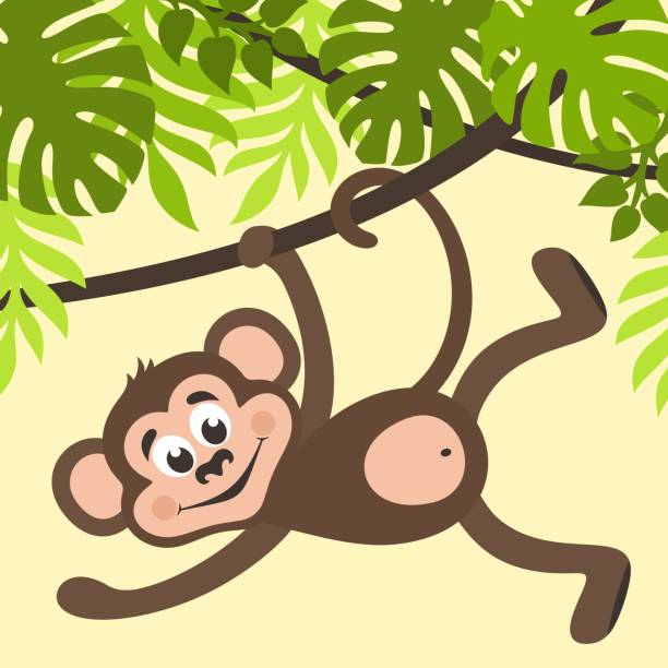 Top Hanging Monkey Clipart Clip Art Vector Graphics And Beneficial.