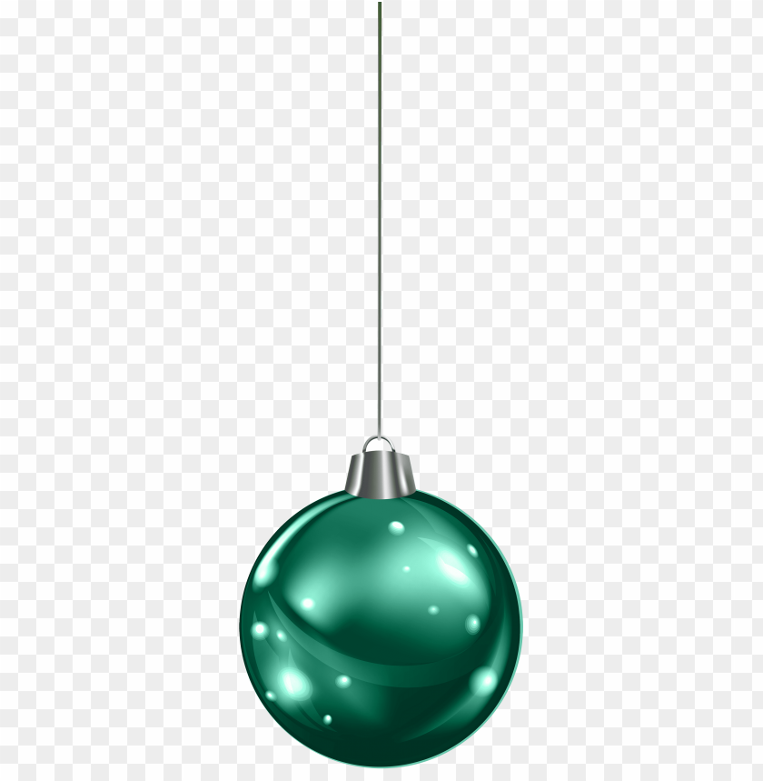 Download hanging green christmas ball clipart png photo.