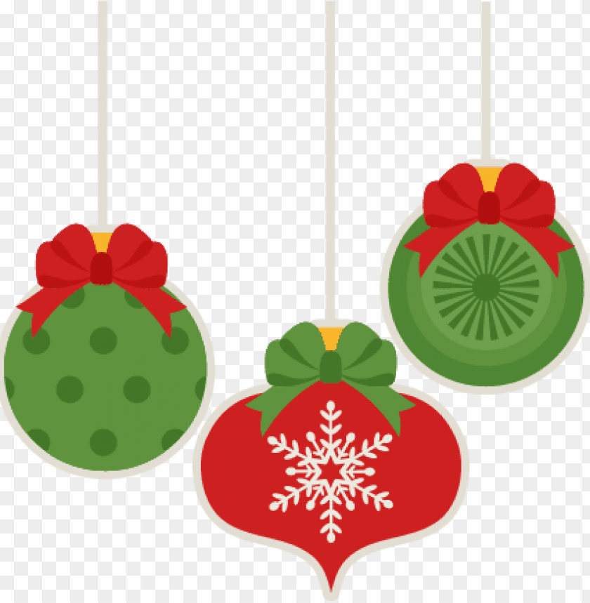 christmas ornament set scrapbook cut file cute clipart.